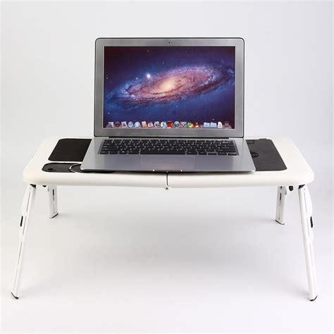 portable folding laptop desk adjustable computer table stand tray  bed sofa  ebay