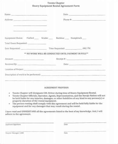 best rental agreement images sle equipment rental agreement pdf format blank 124