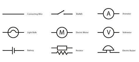 switch circuit symbol wiring diagram components