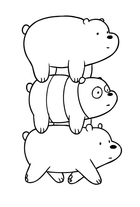 drawing dei  bare bears coloring page