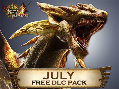 monster hunter  ultimate  dlc pack  july includes