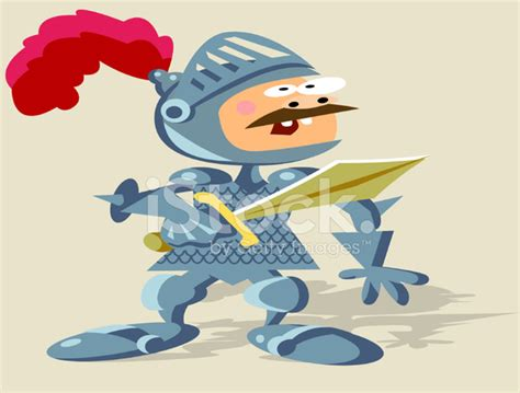 Knight In Armour Stock Vector