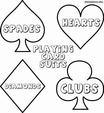 Playing Cards Coloring Pages Colorings