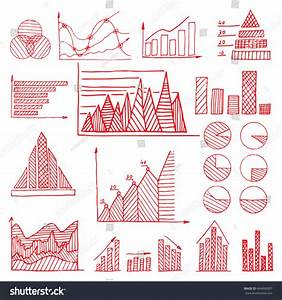 Set Hand Drawn Charts Diagram Graphic Stock Vector