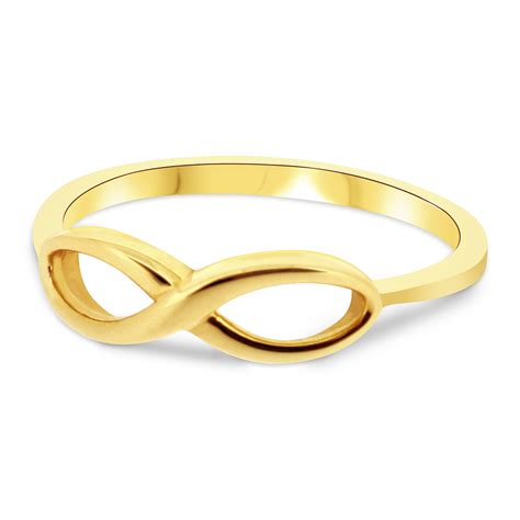 infinity symbol wedding rings 9ct yellow gold infinity symbol promise engagement ring