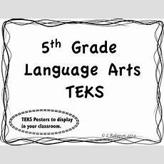5th Grade Language Arts Teks We Will Statements (wave Border