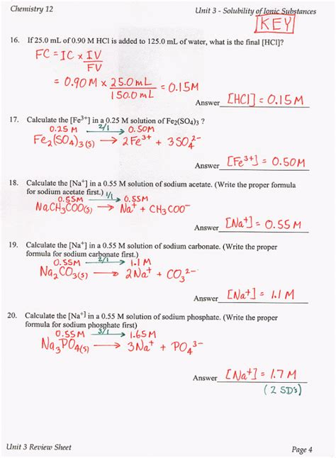 chemistry unit 7 worksheet 3 worksheets for all