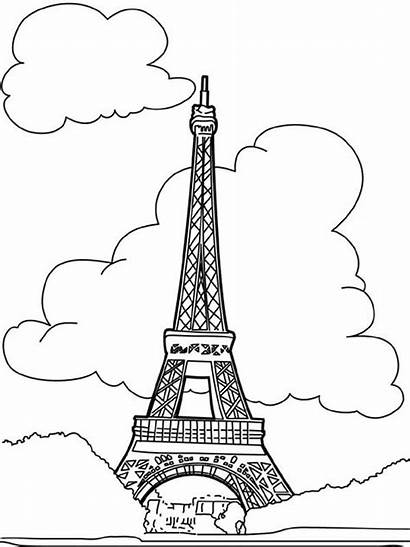 French Pages Eiffel Coloring Tower Proud Drawing