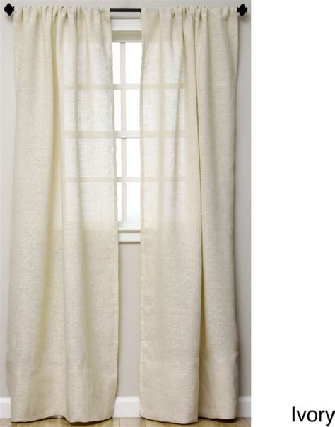 open weave burlap 96 inch curtain panel contemporary