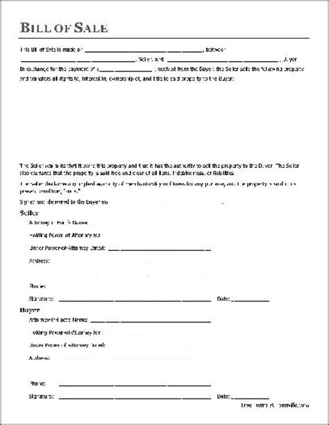 florida proof of vin form free notarized general bill of sale attorney in fact to