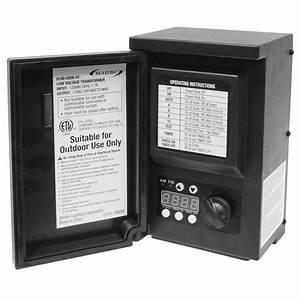 Malibu low voltage watt black digital transformer