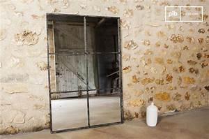 Grand Miroir Industriel : miroir industriel 6 sections du vintage au mur pib ~ Melissatoandfro.com Idées de Décoration