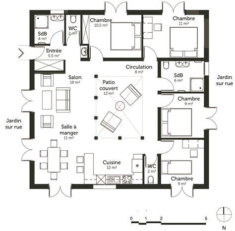 plan maison 7 chambres plan maison cubique 120 m avec 4 chambres ooreka