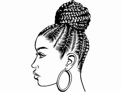 Clipart Afro Woman Braids Classy Diva Queen