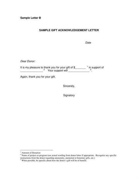 donation acknowledgment letter templates  word