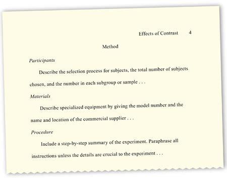 Sle Apa Psychology Research Paper Appendix Exle Apa