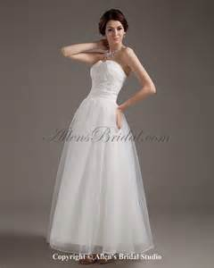 ankle length wedding dress allens bridal satin and organza sweetheart ankle length gown wedding dress