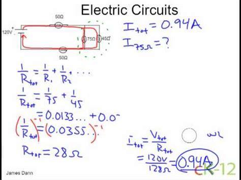 Electric Circuits Resistors Series Parallel Youtube
