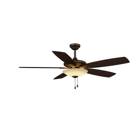 integrated led ceiling fan hton bay menage 52 in integrated led indoor oil rubbed