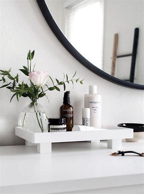 diy footed vanity tray bathroom vanity decor bathroom