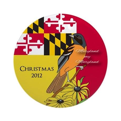 maryland themed christmas ornament by