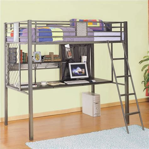 twin loft bed with desk monster bedroom twin study loft bunk bed powell 500 119