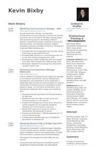 communications project manager resume marketing communications manager resume sles