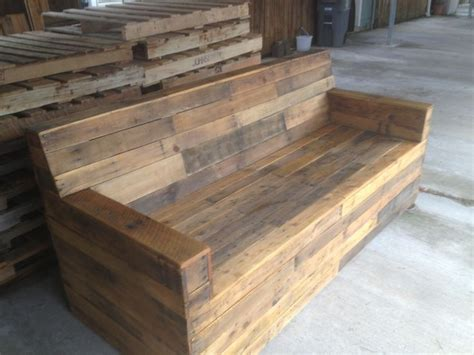 wood pallet furniture stained pallet sofa reclaimed