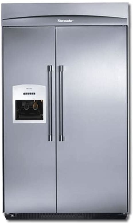 thermador kbudta   built  side  side refrigerator  external icewater