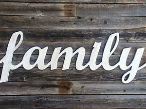 family lettering wall decor wood art With family wood letters
