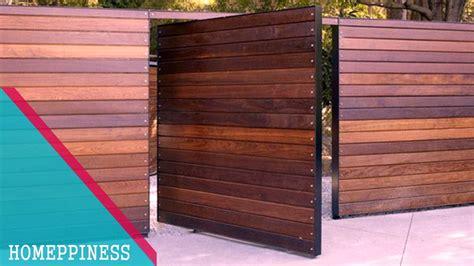 design   modern wood gate fence ideas youtube
