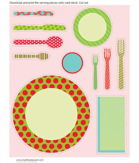 Place Setting Template 20 Place Setting Templates Free Word Design Ideas