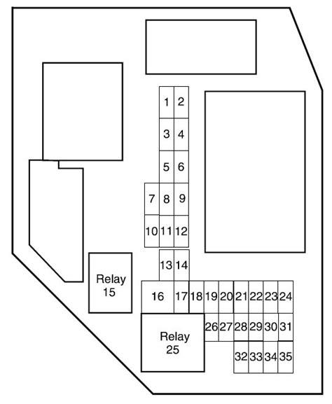 2004 Ford Ranger Fuse Panel Diagram by Ford Ranger 2004 Fuse Box Diagram Auto Genius