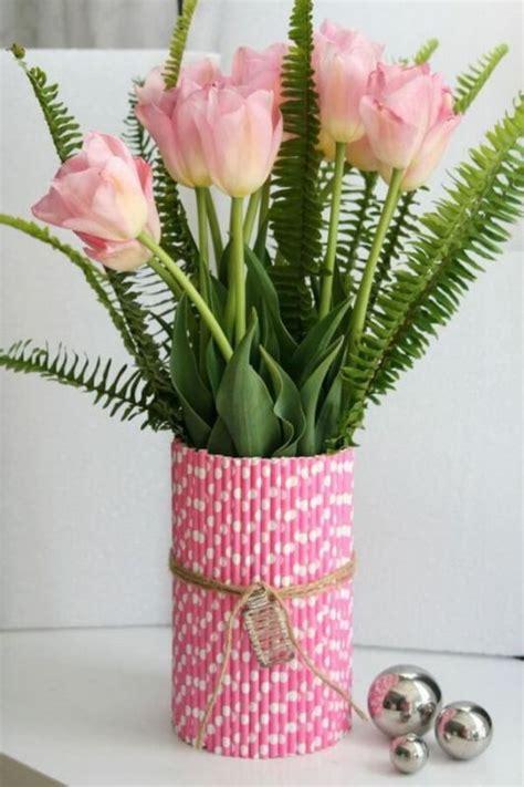 membuat vas bunga cantik  sedotan plastik bekas