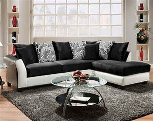 black and white couch pattern pillows zigzag 2 piece With sectional sofa american freight