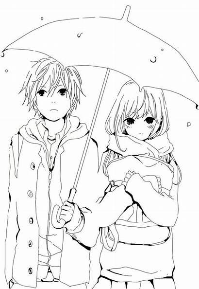 Coloring Anime Pages Manga Chibi