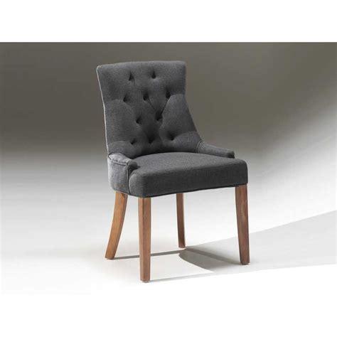 chaise capitonnee chaise capitonnée revêtement en tissus coloris gris