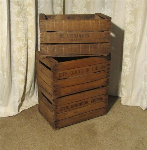 antiques atlas  french wooden stamped apple boxes
