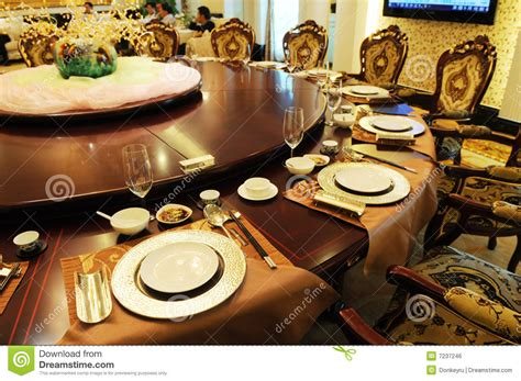luxury formal dinner setting royalty  stock image