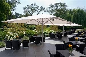 parasol chauffant profitez de la terrasse toute l39annee With grand parasol de terrasse