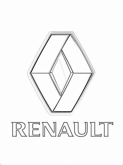 Renault Coloring Pages Cars Printable Logos Brand