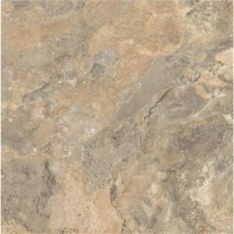 Armstrong Vct Tile Home Depot by Armstrong Ceraroma 16 In X 16 In Cliffside Beige