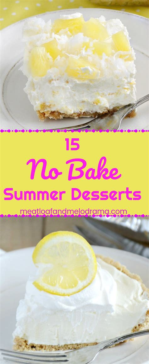 15 simple no bake desserts 15 easy no bake desserts meatloaf and melodrama