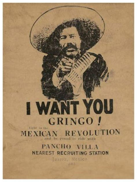 Pancho Villa Poster **very Large** I Want You Gringo