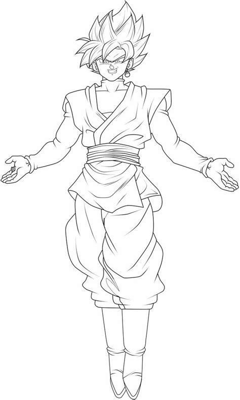 Goku Black Super Saiyan Rose Lineart by ChronoFz on DeviantArt