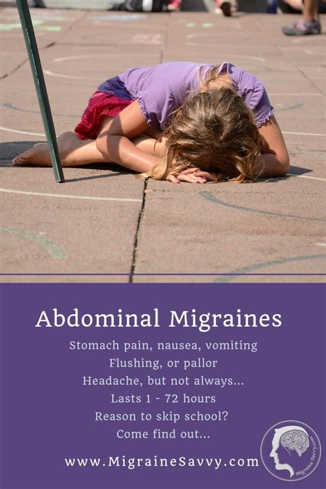 abdominal migraines   excuse  leave school
