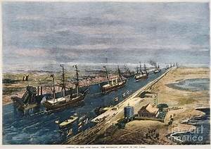 Suez Canal, 1869 Photograph by Granger