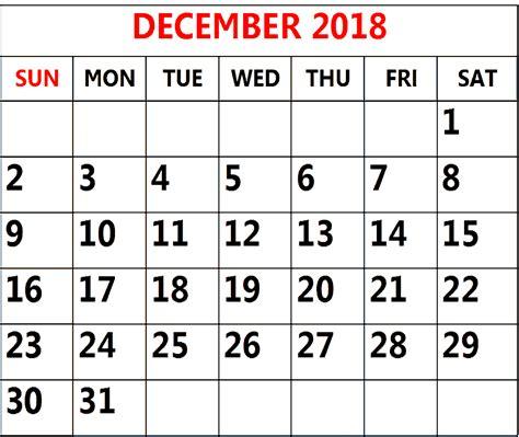printable calendar december 2017 pdf calendar template 2018 december 2018 calendar printable template pdf uk usa prin