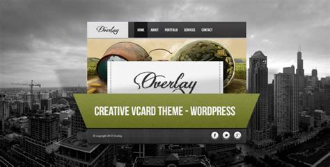 overlay creative wordpress vcard wordpress themeforest