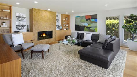 Picture Living Room Interior Fireplace Rug Sofa Design